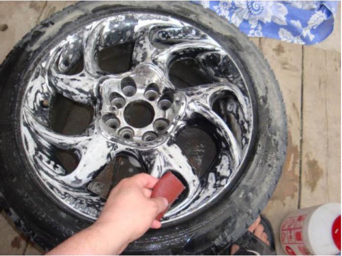 Покраска колесных дисков своими руками 43
